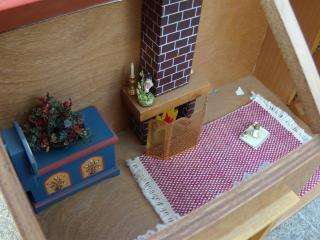 cabin dollhouse inside close-up