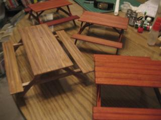 Picnic tables, 2