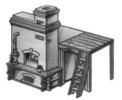 Russian stove drawing