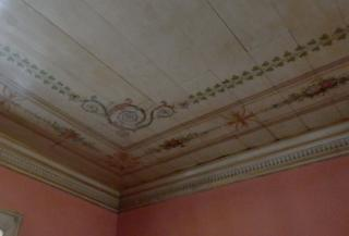 Whitney Plantation  Interior Painting Ceiling Corner Detail