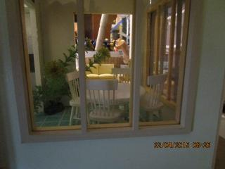 sunroom through window