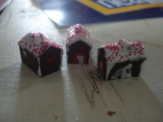 monopoly houses turned gingerbread houses