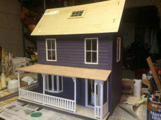 Exterior siding painted