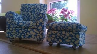 Arm chair & foot stool