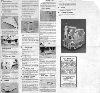Pierce Dollhouse Kit Instructions Back Side