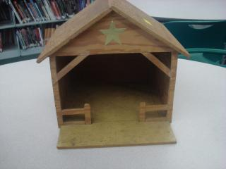 nativity barn front