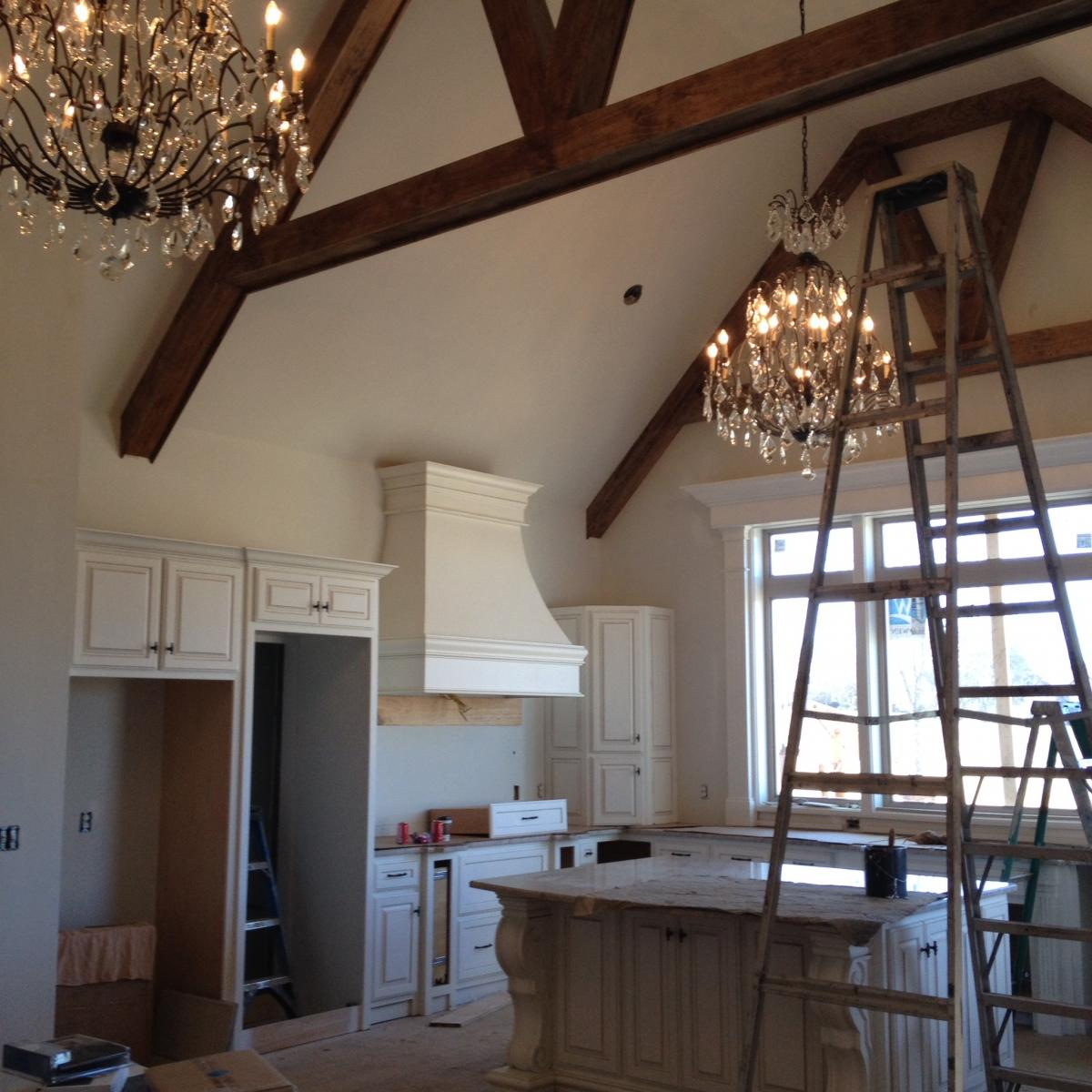 Cathedral Ceilings In Kitchen With Wood Beams Members Gallery The Greenleaf Miniature Community