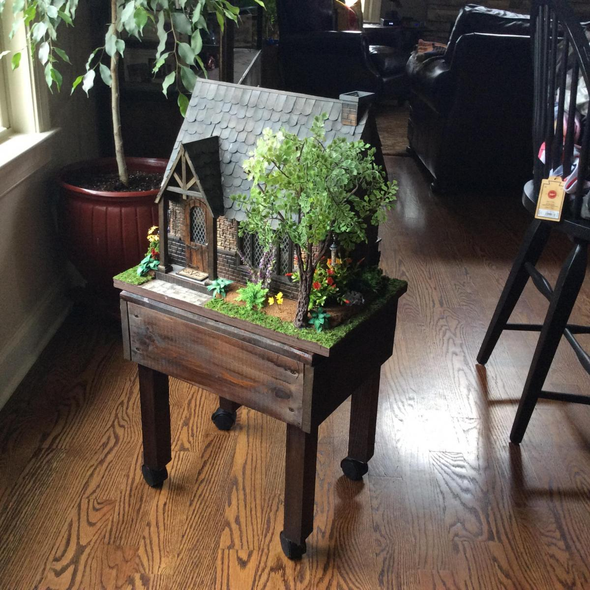 Rustic table to display my Sugarplum