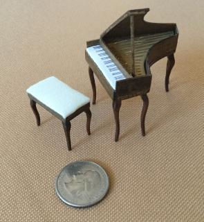 Piano and bench