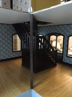 The first floor staircase