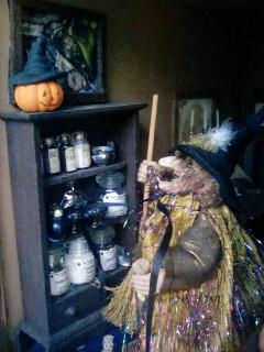 Bartina is admiring all her pumpkins on display
