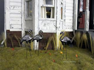 Skeleton flamingos