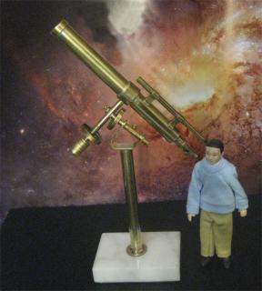 "1:12 Scale 6"" refractor telescope on equatorial mount"