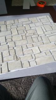 Beginnings of stone floor