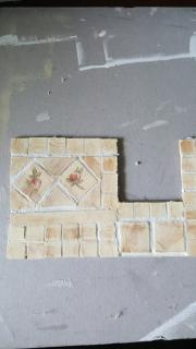 Bathroom tile wall for tub area
