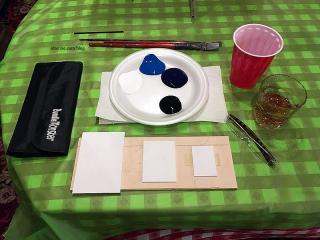 Ready to paint and imbibe!