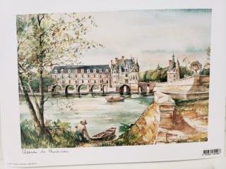 Chenonceau print from giftshop