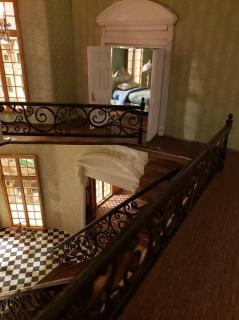 French Chateau staircase railing idea