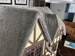 Close up of the thatch