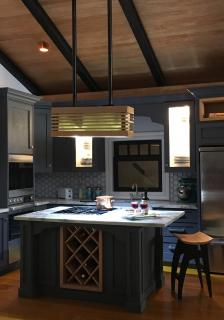 Kitchen with lights