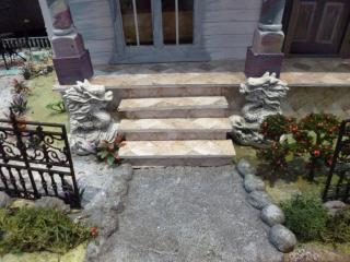 Steps leading up to porch