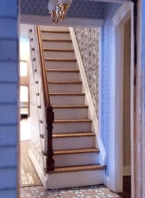 Completed staircase railing