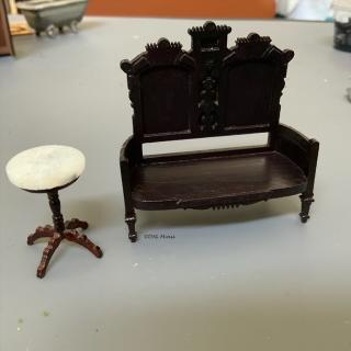 Victorian Settee continued