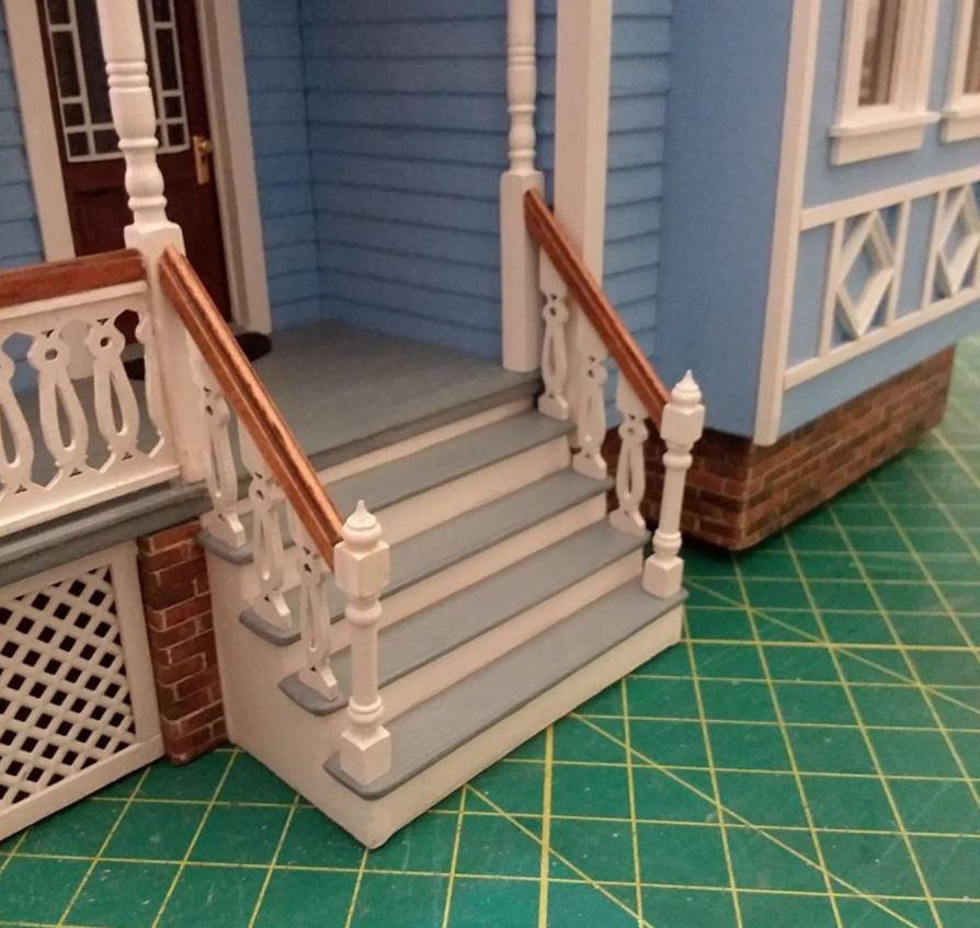 Fairfield Dollhouse Front Steps Completed 1.JPG